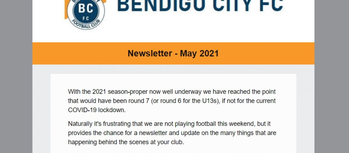 Image of May 2021 newsletter